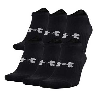 Kids' Under Armour Training Cotton No Show 6 Pack Socks
