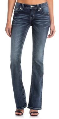 Women's Miss Me Preach For The Stars Mid-Rise Bootcut Jean