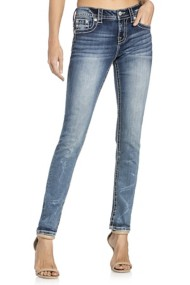 Miss Me Jeans Native-Inspired Embroidered Mid-Rise Skinny Jean