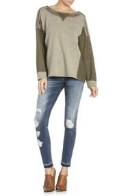 Miss Me Jeans Color-Block Shirt