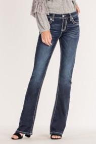 Women's Miss Me Criss-Crossed Bootcut Jean