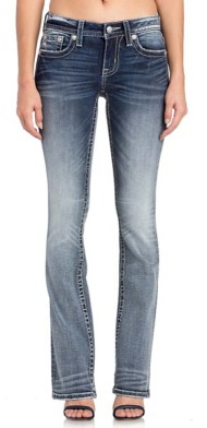 Women's Miss Me Abstract Love Bootcut Pant