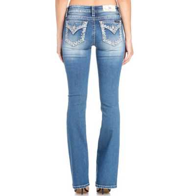 Women's Miss Me What's the Stitch Bootcut Pant