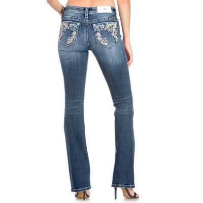 Women's Miss Me Infinite Florals Bootcut Pant