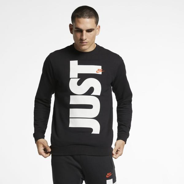 82fea7fb ... Men's Nike Sportswear JDI French Terry Long Sleeve Crew Tap to Zoom;  White/Team Orange Tap to Zoom; Black/Team Orange