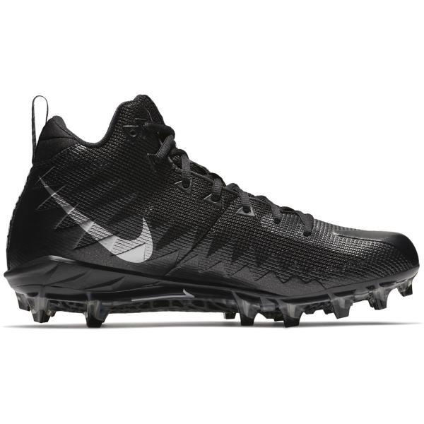 014b6dd0b2d ... Men s Nike Alpha Menace Pro Mid Football Cleats Tap to Zoom   Black Metallic Silver-Black