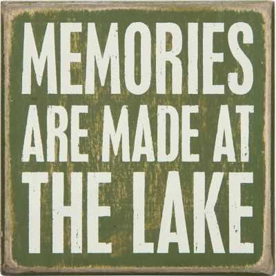 Primitives By Kathy At The Lake Box Sign