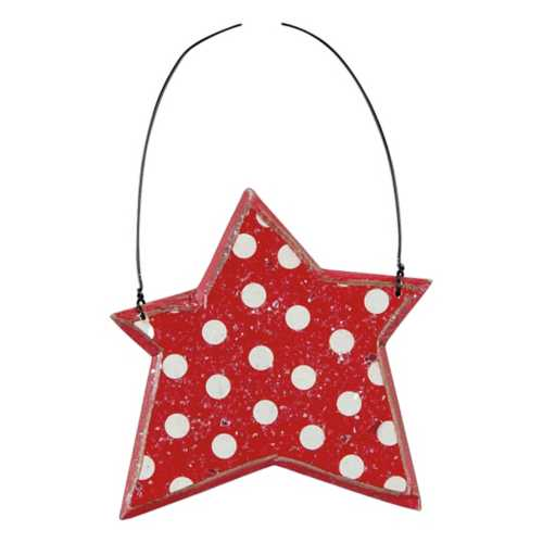 Primatives by Kathy Red Polka Dot Star Ornament