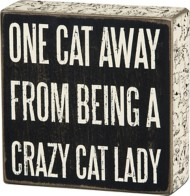 Primitives By Kathy Cat Lady Box Sign