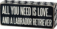 Primitives By Kathy Labrador Retriever Box Sign