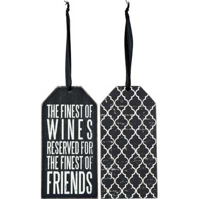 Primitives By Kathy Finest Of Wines Bottle Tag