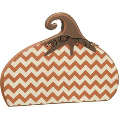 Primitives by Kathy Stand-Up - Chevron Pumpkin