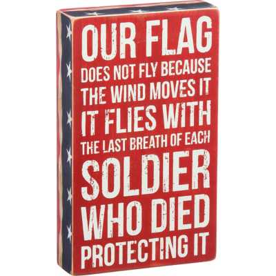 Primitives By Kathy Our Flag Box Sign