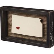 Primitives by Kathy  Kansas Box Sign