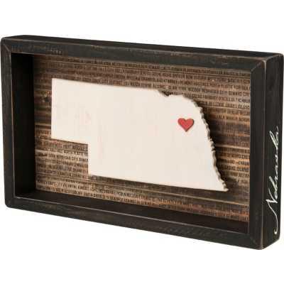 Primitives By Kathy Nebraska Box Sign