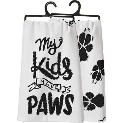 Primitives By Kathy My Kids Have Paws Dish Towel