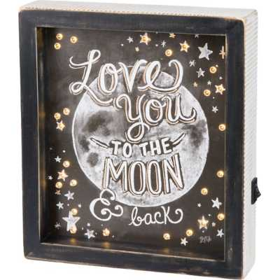 Primitives By Kathy Moon And Back LED Chalk Sign