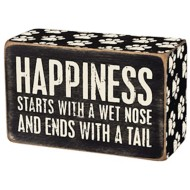 Primitives by Kathy  Happiness Starts Box Sign