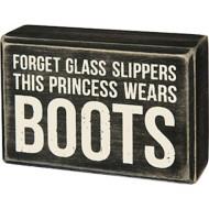 Primitives by Kathy  Princess Boots Box Sign