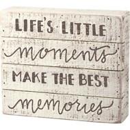 Primitives by Kathy  Best Memories Slat Box Sign