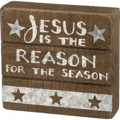 Primitives by Kathy Slat Box Sign - Jesus is the R