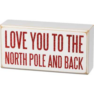 Primitives by Kathy Box Sign - North Pole