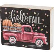 Primitives by Kathy Chalk Sign - Hello Fall
