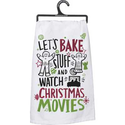 Primitives by Kathy Dish Towel - Christmas Movies