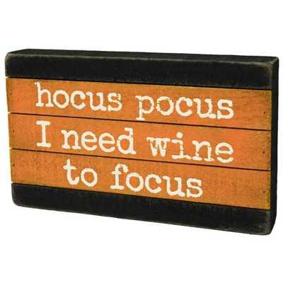 Primitives by Kathy Slat Box Sign - Hocus Pocus
