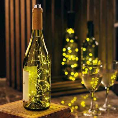 Primitives by Kathy Wine Bottle Lights