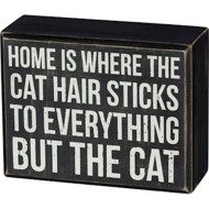 Primitives by Kathy Cat Hair  Box Sign
