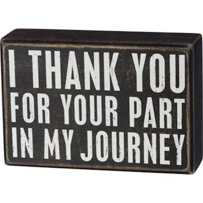 Primitives by Kathy  My Journey Box Sign