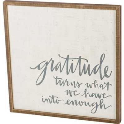 Primitives by Kathy Gratitude  Inset Box Sign