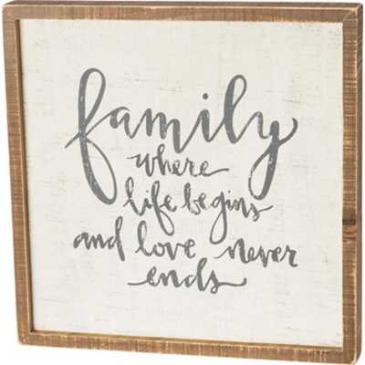 Primitives by Kathy  Family Inset Box Sign