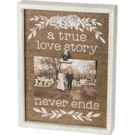 Primitives by Kathy  Love Story Photo Clip Board
