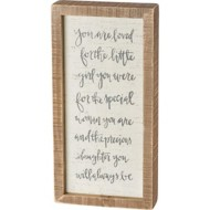 Primitives by Kathy  You Are Loved Inset Box Sign
