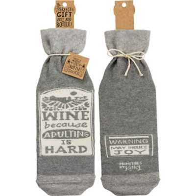 Primitives by Kathy  Adulting Bottle Cover