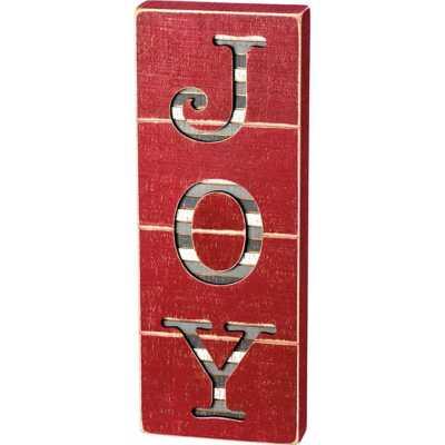 Primitives by Kathy Slat Box Sign - Joy Cut Out