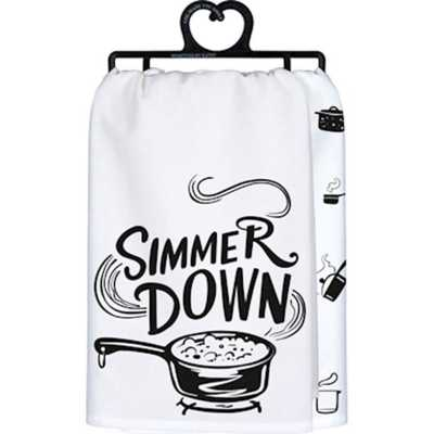 Primitives by Kathy  Simmer Down Dish Towel