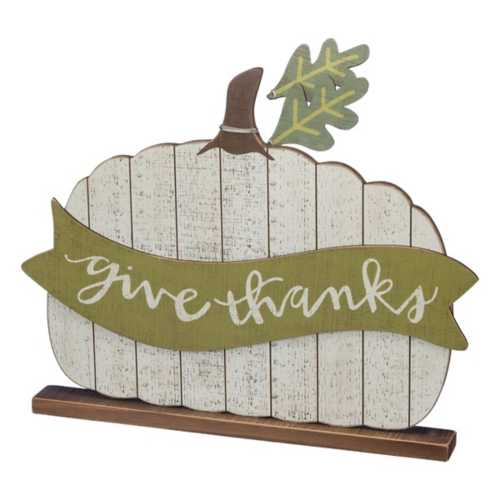 Primatives by Kathy Give Thanks Pumpkin Sitter