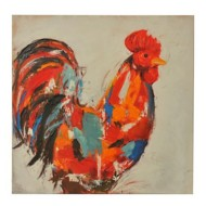 Crestview Collection Red Rooster Canvas