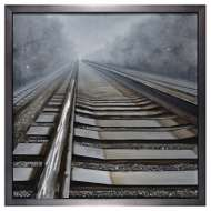 Crestview Collection Shining Way Railroad Track Canvas