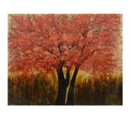 Crestview Collection Amber Glow Hand Painted Canvas