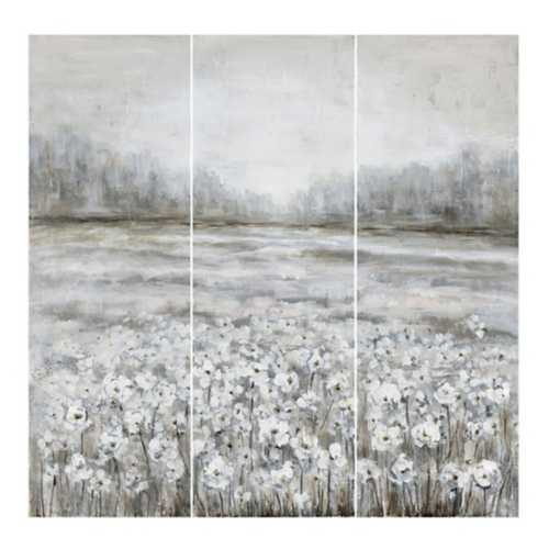 Crestview Collection Field of Flowers 3 Pc Canvas