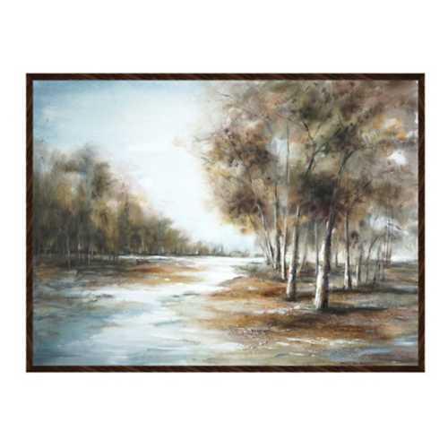 Crestview Collection Serene Horizon Framed Canvas