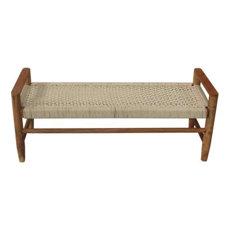 Crestview Collection Tacoma Jute Bench