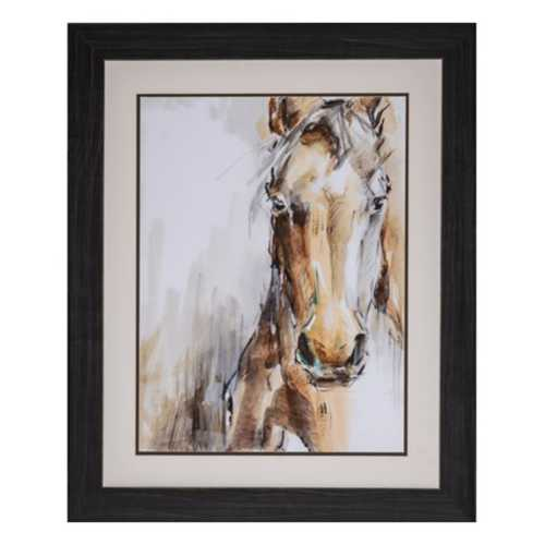 Crestview Collection Gift Horse I Framed Canvas
