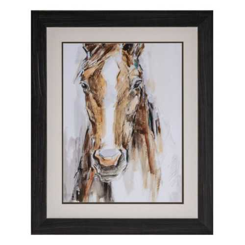 Crestview Collection Gift Horse II Framed Canvas