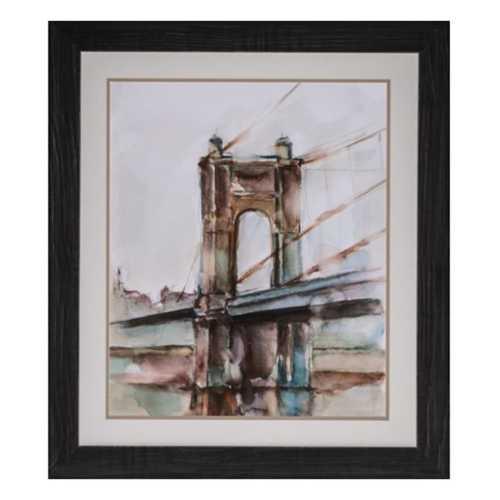 Crestview Collection Bridge St Sunset I Framed Print
