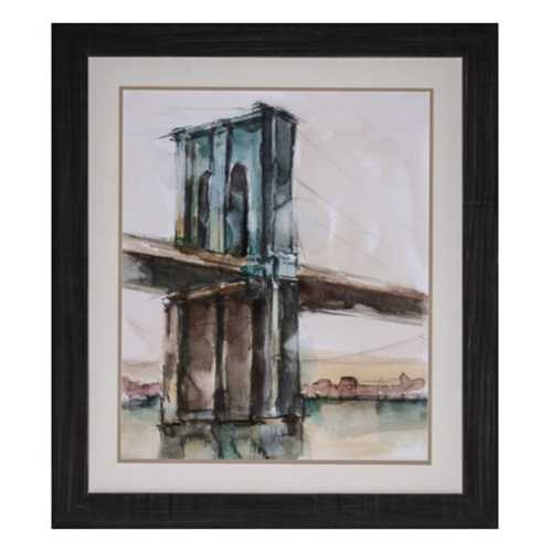 Crestview Collection Bridge St Sunset II Framed Print